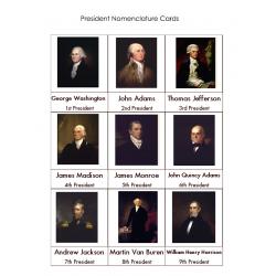 President Nomenclature Cards